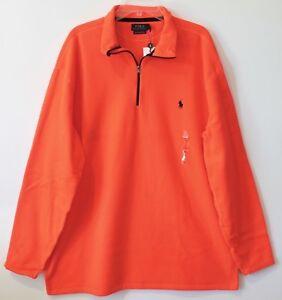 Polo Ralph Lauren Big & Tall LT Mens Coral 1/2 Zip Pullover Fleece Jacket NEW LT