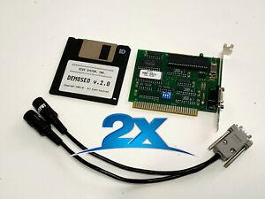 2Pcs x MDR-401 8-bit Isa MIDI interface card vintage (1991) compatibile MPU401