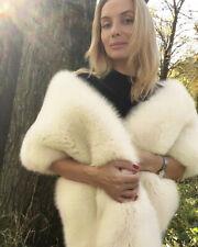 Women Faux Fur Shawl Party Wrap Shrug Scarf Accessory Coat Winter Fluffy Scarf