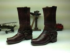 BROWN LEATHER FRYE HARNESS MOTORCYCLE MADE IN USA WESTERN BIKER BOOTS 7M