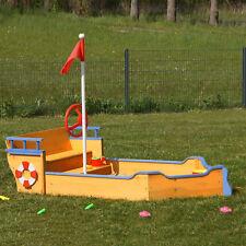 Bac à sable bateau en bois avec cachette secrète,piratenboot,pirates,