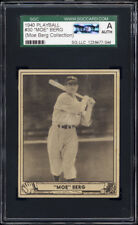 1940 Play Ball #30 Moe Berg SGC Authentic (AUTH) Personal Collection Pedigree