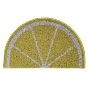 Lemon Shaped Half-Moon Doormats Summer Door Mat Non-Slip Dirt-Trapper Mats
