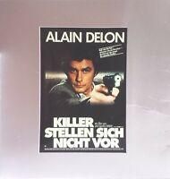 Kino # Film-Werbe-Dia # 85mm x 85mm # Alain Delon: Killer stellen sich nicht vor