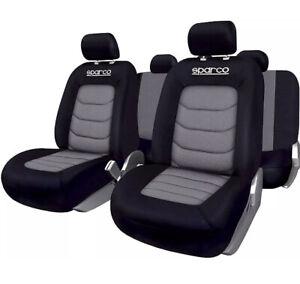 Sparco SPC1019GR Seat Cover Set, Black/ Grey