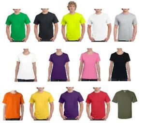 Plain 100% Cotton Blank T shirt Gildan Mens Womens Various Colour sizes S 2XL