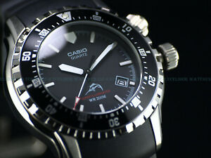Rare Casio Men's 42.5mm MDV-102 Super Illuminator w/ LED's Marlin Diver Watch