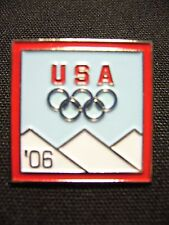 2006 Torino Olympic Pin   USA - '06