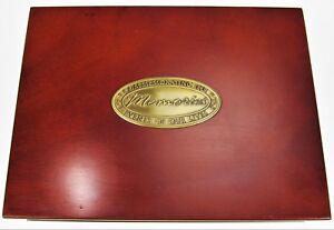Cherry Wood Jewelry Keepsake Memory Box Stash Treasures Picture Storage