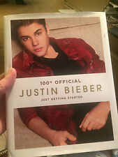 Justin Bieber 100% Official book---NEW HARDCOVER BOOK
