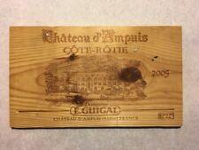 1 Rare Wine Wood Panel Chateau d'Ampuis Côte Rôtie Vintage CRATE BOX 4/18 549