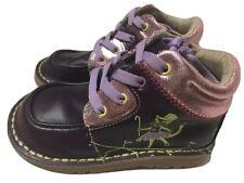 LN Girls Shoes Short Boot Livie & Luca Kip Kitty Cat Purple 9