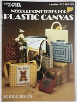 VTG 1980 Needlepoint Totes For Plastic Canvas Bag Patterns Leisure Arts 173