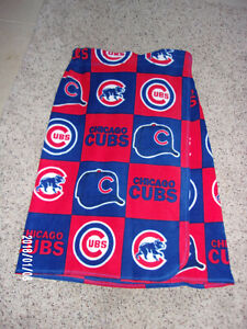 CHICAGO CUBS BLOCK PATTERN BEACH COVERUP  (ADULT)
