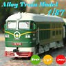 1:87 Simulated Alloy Train Locomotive Model Pull Back Toy With Sound Lights