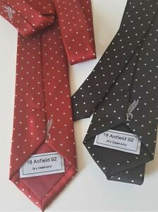 Liverpool FC new ties limited edition hand finish 18 Anfield 92 tagged