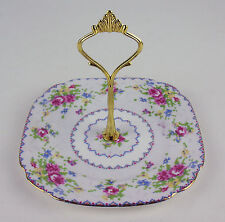 Cake Stand w Handle or Orphan top plate for 2/3 tier Royal Albert Petit Point