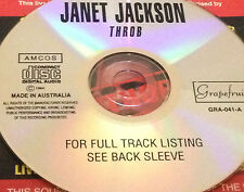 Janet Jackson Throb Aust. Live CD Super Rare What Have You Done For Me Lately?