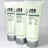 Lot of 3 Joe Grooming Daily Conditioner Mint 299ml/6.7oz Discontinued