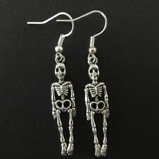 Human Skeleton Earrings Horror Gothic Novelty Gift Fashion Jewellery