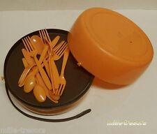 Set CAMPING PIQUE-NIQUE marque OLOT couleur orange VINTAGE 70'