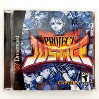 Project Justice (Sega Dreamcast, 2001) Complete Tested & Works