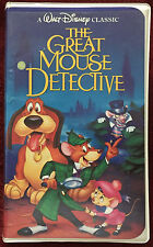 The Great Mouse Detective Walt Disney Classic Black Diamond VHS Collectible