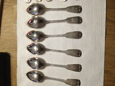 12 x Suppenlöffel Augsburger Faden alle  800 Silber 570 Gramm.