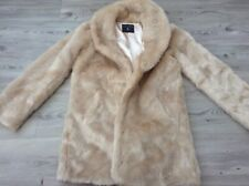 (B8) DOROTHY PERKINS LADIES LOVELY FAUX FUR COAT SIZE 12