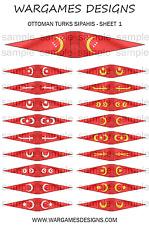 10mm Ottomano TURCHI sipahis Bandiere e LANCE STENDARDI, Bandiere-Foglio 1