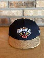 New Orleans Pelicans fitted hat - New Era 7 1/8 Navy Gold