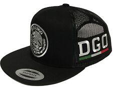 DURANGO MEXICO HAT 2 LOGOS  BLACK MESH SNAPBACK ADJUSTABLE NEW HAT