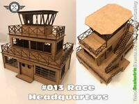 Scalextric Slot Car Buildings - Race Headquaters, Magnetic Racing 1:32