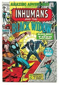 Amazing Adventures #8, 1971 Black Bolt vs Thor! Neal Adams Art 8.5 VF+