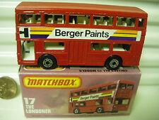 MATCHBOX MB17B BERGER PAINTS BUS BROWN BASE DotDash Whls +AXLE Braces MintBoxd*