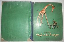 RARE Ancienne BD Bande dessinée Rafi et les 9 singes NRF H.A.REY 1939 GALLIMARD