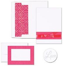 Fuchsia Band Printable Wedding Invitations Kit 50/pk