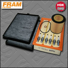 SERVICE KIT BMW 5 SERIES 530I E39 FRAM OIL AIR CABIN FILTERS PLUGS (2000-2003)