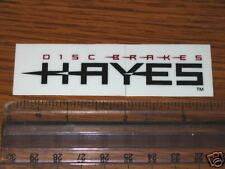 HAYES Disc Brake Bike Frame Mountain Road STICKER DECAL