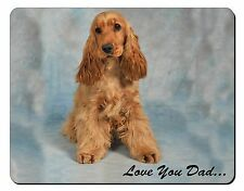 Gold Cocker Spaniel 'Love You Dad' Computer Mouse Mat Christmas Gift I, DAD-185M