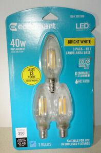 3 LED B11 Light Bulb Bright White Candelabra E12 Dimmable Edison 40W 40 Watt