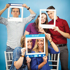 3 Social Media Snaps Birthday Party Celebration Picture Photo Prop Frames