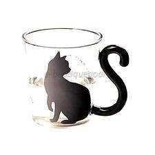 Tasse en Verre Tasse de Thé Mug Créatif Chat Mignon Mots Anglais