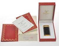 Cartier vintage 1990 Panthere mini lighter black enamel new in box