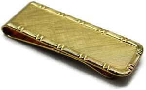 Money Clip Gold Tone Bordered Credit Card Cash ID Holder
