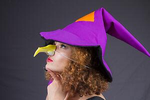 Hexe Accessoire 74503Hexen-Nase krumm mit Warzen Karneval Grusel Kostüm Zubehör
