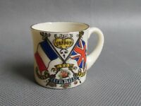 CRESTED WARE 1908 FRANCO BRITISH EXHIBITION LONDON TANKARD (Ref3229)