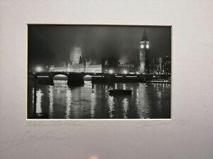 Aldo Cervato fotografia Westminster Palace Londra London firmata signed