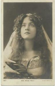 ca1905 Theater Actress Miss MAUDE FEALY Lovely Lady RPPC postcard 198 V