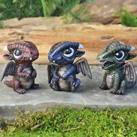 Miniature Fairy Garden Baby Dragons 3pcs Red/Green/Blue fairy garden accessory